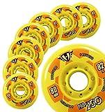 Hockey Skate Wheels - Hyper PRO250 Yellow - 80MM - 82A - 8
