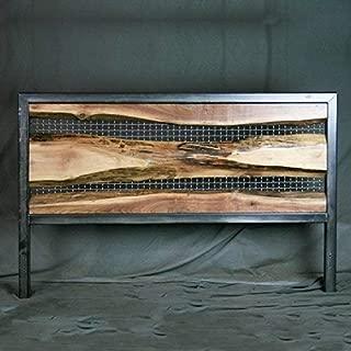live edge walnut headboard