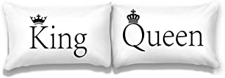 Couples Pillowcases Standard Size for Him and Her, His and Hers Pillow Cases 20x30 Set of 2 Ideas for Wedding Anniversary Couple, 100% Microfiber (King/Queen)
