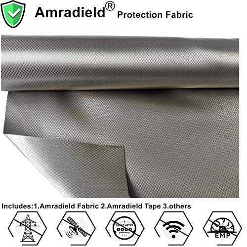 Faraday Fabric-EMI RFID Shielding Earth Grounding-Block WiFi/RF Anti-Radiation Military Grade for Radiowave Microwave and Other Electromagnetic Fields 39