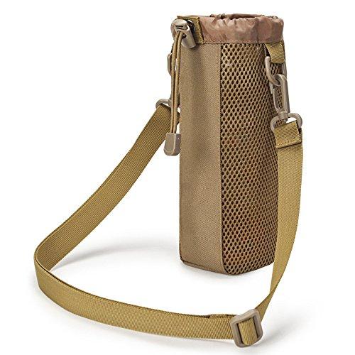 Selighting Taktisch Flaschenhalter Militär Trinkflasche Beutel Trinkflasche Halter für Outdoor Wandern Camping Trekking (Braun)
