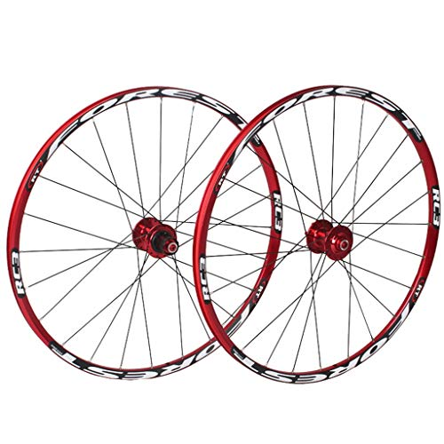 MZPWJD Mountain Bike Wheelset 26 27.5 in Bicycle Wheel MTB Double Layer Rim 7 Sealed Bearing 11 Speed Cassette Hub Disc Brake QR 24 Holes 1850g (Color : White, Size : 27.5inch)