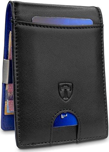 TRAVANDO ® Billeteras Hombre Tarjetero Slim con Pinza para Billetes Sydney Bloqueo RFID Seguridad | Billetero | Cartera pequeña de Viaje Estuche, Protege Tarjetas de crédito, Clip para Dinero