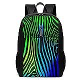 Zebra Pattern Boys Backpack Simple School Bag for Men Women College Bookbags Leisure Daypack