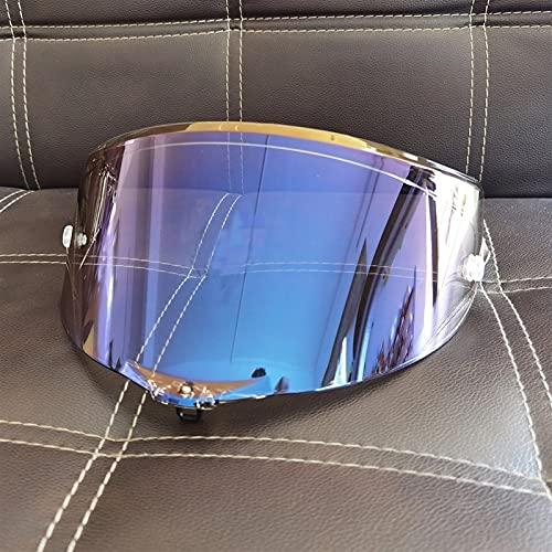 Anti-explosión UV Protección Casco de Motocicleta Sun Visor Goggles Lens Fit para Pista GP R/Pista GP RR/Corsa r/Corsa RR Raza 3 7 0 Aniversario (Color : Aurora Blue)