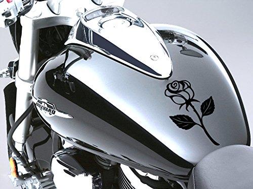 Rose Sticker Moto Réservoir à carburant voiture en 100 mm x 170 mm – Rose Noir
