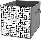Caja de almacenamiento plegable | Contenedores de almacenamiento plegables, bomberos, rescate de bomberos, cajas de almacenamiento, organizador de contenedores para juguetes, estantes, ropa, libros