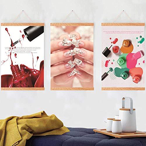 Nail Art Canvas Schilderij Poster Printer Stickers Decoraties Folie Vervangen Leds voor Nagellamp Uitbreidingskits Huis Woonkamer 40x60cmx3 Geen frame