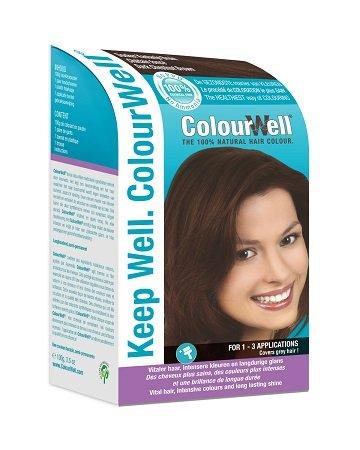 Colourwell 100% Natuurlijke Haarkleur Donker kastanje, 100g, Bruin