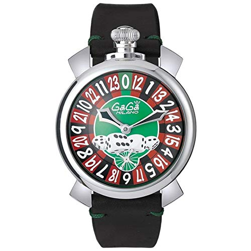 GaGa Milano Men's Las Vegas Roulette 48mm Black Mechanical Watch...