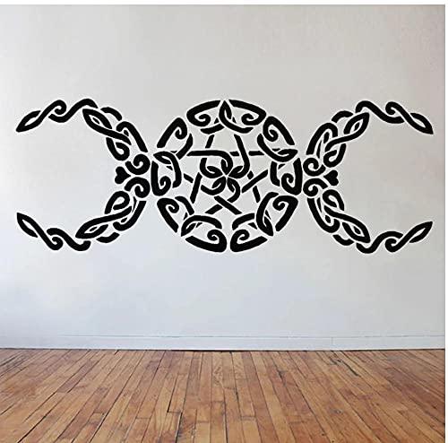 Pegatinas gigantes de arte de pared para sala de Yoga, decoración artística para el hogar, calcomanías de vinilo para pared, pegatina de decoración para sala de estar, 57X21cm