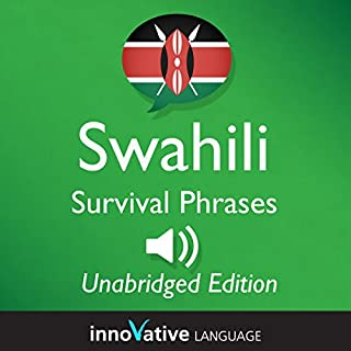 Learn Swahili: Swahili Survival Phrases: Lessons 1-50 audiobook cover art