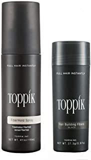 Toppik Hair Building Fibers- 27.5g with holding spray 118 ml