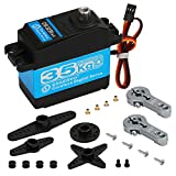 Beffkkip 35KG Digital Servo Full Metal Gear High Torque Waterproof DS3235 with Two 25T Servo Arms for RC Car Robot Control Angle 180
