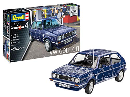 Revell 07673 VW Golf GTI Builders Choice originalgetreuer Modellbausatz für Fortgeschrittene, unlackiert