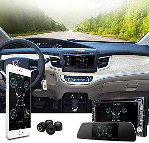 Sistemas Tpms Sistema De Monitoreo De Presión De Neumáticos Bluetooth 4 0 Para Android Ios Pantalla De La Aplicación Del Teléfono Móvil 4 Sensor Interno Externo Negro Amazon Es Bricolaje Y Herramientas