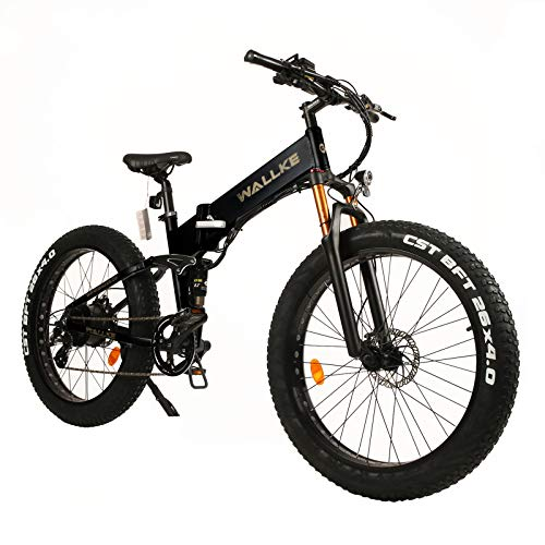 WALLKE W X3 Pro Electric Bike Mountain Bike 750W Ebike 26-inch Fat Tire Snow Bicycle, 28MPH Adults Ebike with Removable 48V 14AH Samsung Lithium Battery,Professional 8 Speed Gears