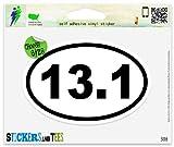 13.1 Oval Half Marathon Run Vinyl Car Bumper Window Sticker 3' x 2'