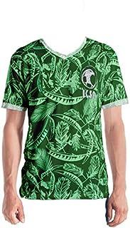 Saudi National Team Shirt 2021 (T-Shirt) Men's Jersey Printed Ultra-Softقميص المنتخب السعودي2021 (تي شيرت) جيرسي رجالي مطب...