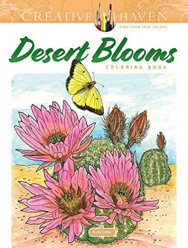 Creative Haven Desert Blooms Coloring Book (Creative Haven Coloring Books)