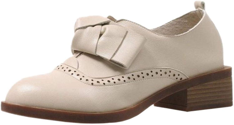 JOJONUNU Women Block Heel Pumps shoes Bowknot