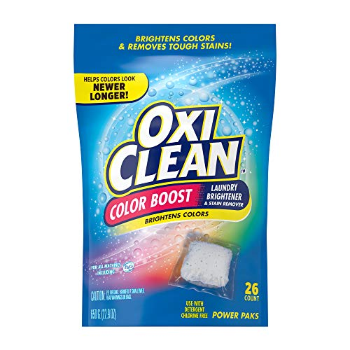 Product Image of the OxiClean Color Boost Color Brightener plus Stain Remover Power Paks, 26 Count