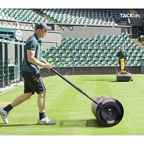 TACKLIFE Lawn Roller 16x20-Inch with Capacity 60L/16 gallons, Garden Yard Sod Roller Push/Tow Behind Design, Fill with Water or Sand for Planting, Seeding, Eliminating Lawn Damage HR60L to roll the ground to level for pool without digging