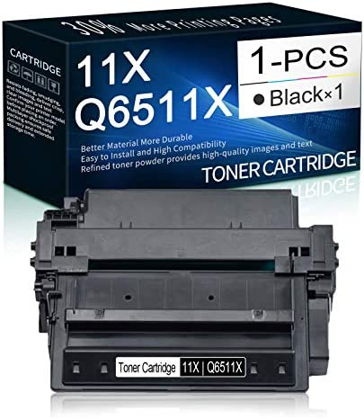 1 Pack Black 11X Q6511X High Yield Toner Cartridge Replacement for HP Laserjet 2430 2410 2420 product image