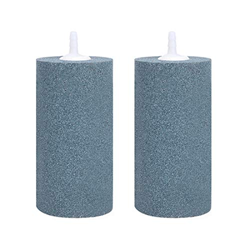 VIVOHOME Air Stones 4 x 2 Inch, Cylinder Airstones Diffuser for Aquarium Fish Tank Hydroponics Pump, Pack of 2