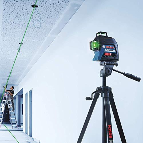 Bosch Professional Linienlaser GLL 3-80 G (grüner Laser, max. Arbeitsbereich: 30 m, 4x AA Batterie, im Handwerkerkoffer) - 4
