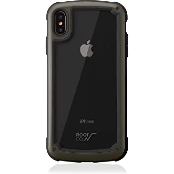 【ROOT CO.】iPhoneXS Max ケース 耐衝撃 Gravity Shock Resist Tough & Basic Case. (カーキ)