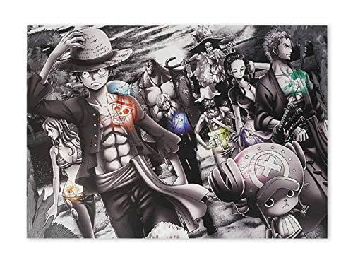 CoolChange Hochwertiges One P. Wandbild auf Hartschaumplatte | Poster 42x30cm | Motiv: Piraten & Jolly Roger