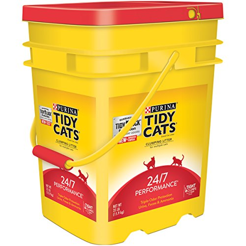 Purina Tidy Cats Clumping Litter 24/7 Performance for Multiple Cats 35 lb. Pail (35 Lb - 2 Pails)