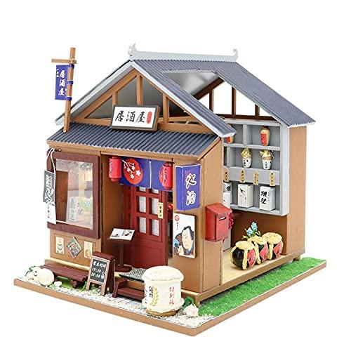 NIKALONG Muebles De Madera Modernos, Mini - Casa De MuñEcas, Casa De MuñEcas DIY, Casa De MuñEcas Hecha A Mano, Sala De Juegos Modelo Creativo, CumpleañOs De Novia (Casa De Vino Japonesa)