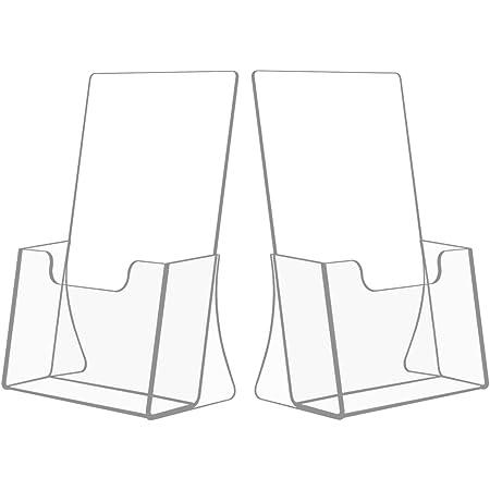 NIUBEE アクリル 透明 カタログ・POP広告スタンド A5縦型 2セット 卓上 パンフレット立て おしゃれ カタログラック ハガキホルダー 店舗 販促 オフィス 机上用品
