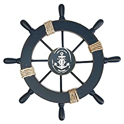 Nautical Baby Shower Ideas for Decorations. A ship wheel.