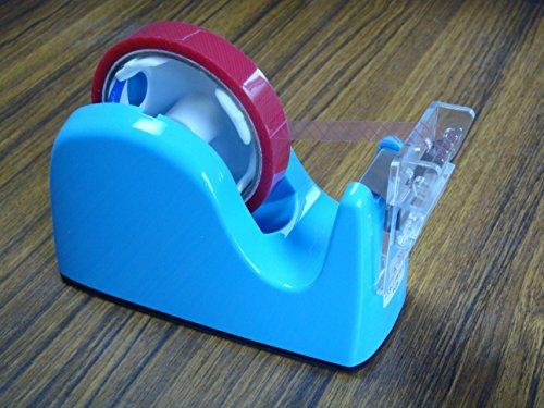 ミミタブテーパーカッターユニット+プラス社テープカッターTC−301(ブルー) <折返しツマミテープカッターユニットとカッター台のセット品>