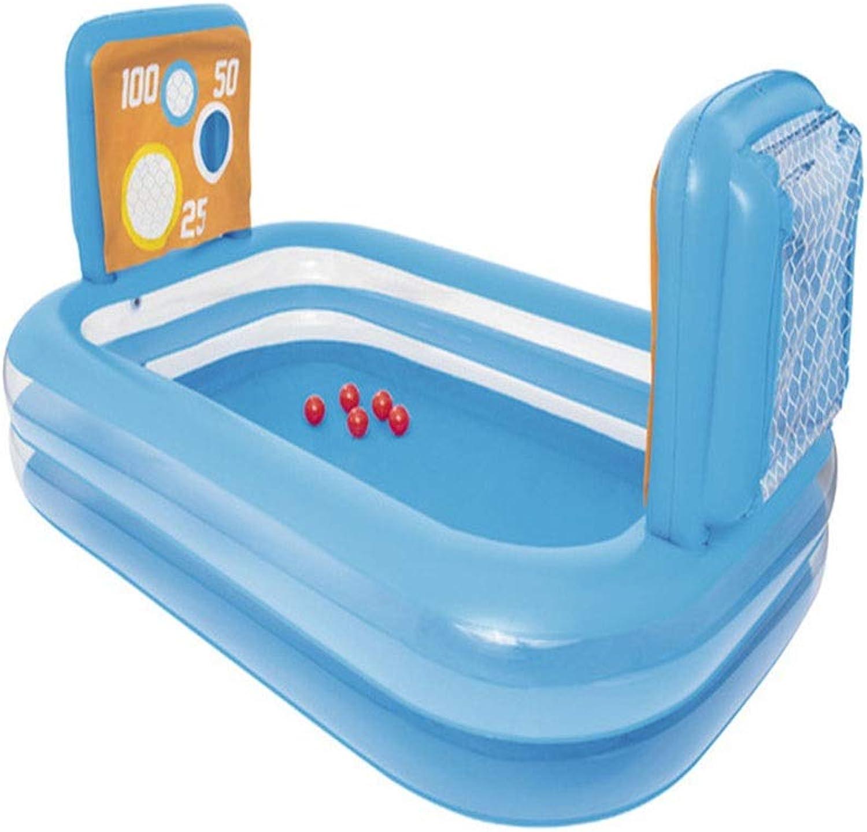 Fuball-Erholungspool 237X152X94cm, Aufblasbarer Pool Für Kinder, Aufblasbarer Rechteckiger Pool Für Familien, Schwimmzentrum Familien-Freizeit-Pool, 462L