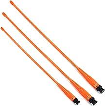 HYS Antenna 15.6-Inch Whip Dual Band UV VHF/UHF 144/430Mhz Antennas BNC for Icom IC-V8 IC-V80 IC-V82 IC-U82 IC-W32 IC-V85 Radio (Pack 3)