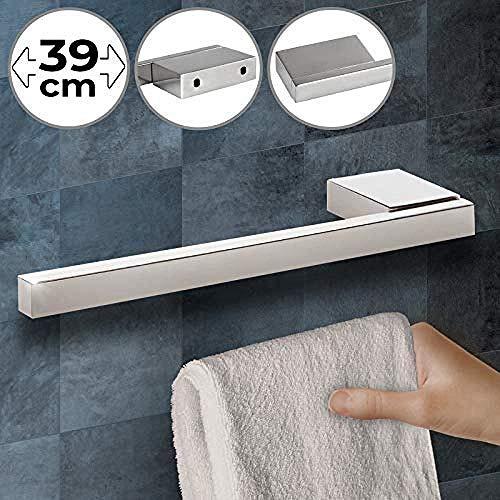 wscmd Wand- und Schrankbefestigung Edelstahl mit polierter Oberfläche Silber - Handtuchhalter Handtuchhaken Handtuchhaken