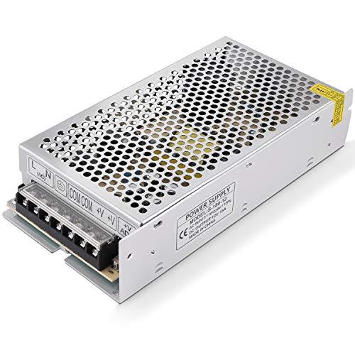 GHB Transformador Interruptor Transformador de Potencia Transformador de Voltaje Fuente de Alimentación para Tira de LED AC 110V / 220V a 12V DC 15A 180W
