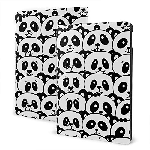 Compatible with Ipad 7th 10.2 Ipad Case Apple Generation Cute Pandas Screen Protector Mini Case 2020 Shock Proof Full Protection Standing Cover Slim 360 Degree Rotating Auto Wake/Sleep