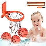 aovowog Jouet Bain Jeux Peche et Basketball Cerceau & Balles, Canne à Pêche Jeux Peche a la Ligne Jeux de Bain Cadeaux pour Enfants Filles Garcons Bebe(8 PCS)