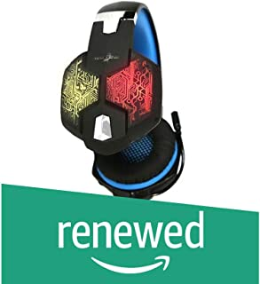 (Renewed) Redgear Hell Scream Professional Gaming Headphones with 7 RGB LED Colors and Vibrations