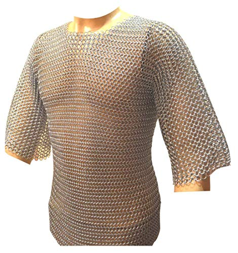 NASIR ALI Schönes konifiziertes Kettenhemd aus Aluminium, 10-15 Jahre alt, Mittelalterliches Kettenh