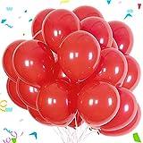 Sunshine smile 100Piezas Globos Rojo, Macaron Latex Balloon, Globos de Cumpleaños, Globos de Helio, Globos Boda, para Cumpleaños Decoración Fiesta Aniversario Baby Shower Comunión