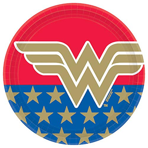 Best Buy! Wonder Woman Classic Round Party Paper Plates 9, 8 Ct.