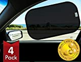 Kinder Fluff Car Window Sunshades (4X)-The Only Certified Sunshade to Block 99.79% UVA & 99.95% UVB -Mom's Choice Gold...