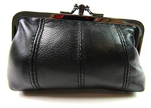Damen Geldbörse aus echtem Leder mit Clipverschluss