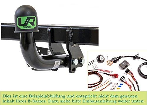 UmbraRimorchi Fest Schwanenhals Anhängerkupplung mit 13p Spezifischer E-Satz Kompatibel mit Opel MERIVA-B MPV 2010+ UT280COR60ZFM/WS21500567DE1